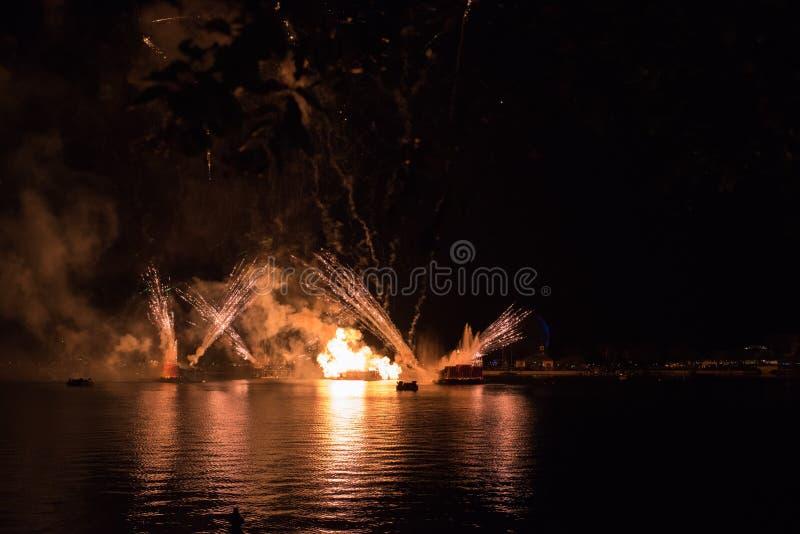 Vuurwerk in Epcot in Walt Disney World stock afbeelding