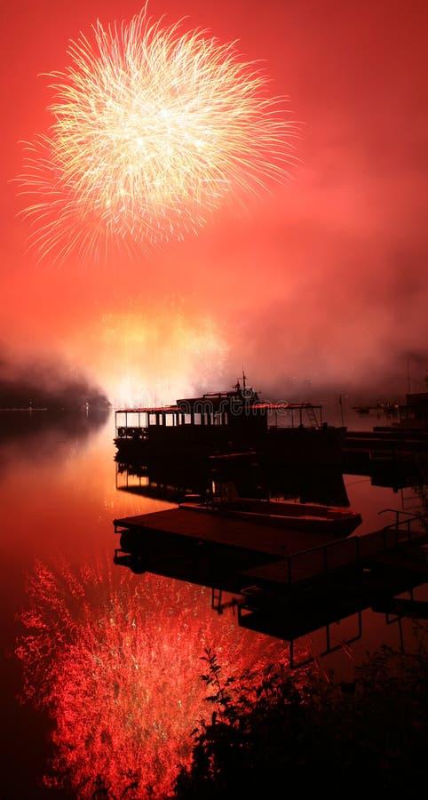 Vuurwerk Ignis Brunensis stock fotografie