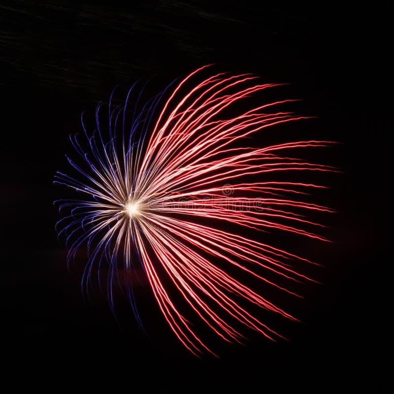 Vuurwerk op het Grote Eiland stock afbeelding