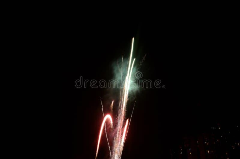 Vuurwerk Rocket Exploding royalty-vrije stock foto