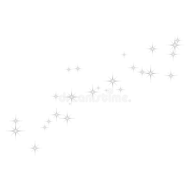 Vuurwerk ster random source stream Falling Star Stars op een witte achtergrond vector illustratie