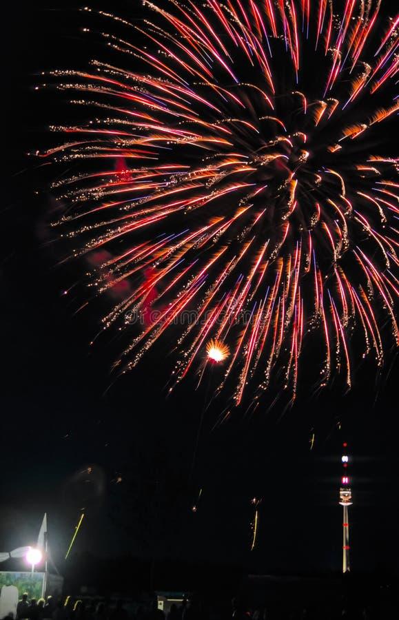 Vuurwerk in Wenen no.3 royalty-vrije stock foto