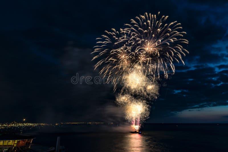 Vuurwerkfestival 2017 royalty-vrije stock foto
