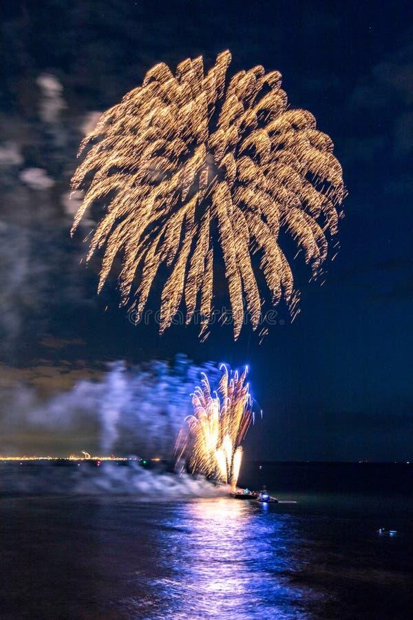 Vuurwerkfestival 2017 stock foto's
