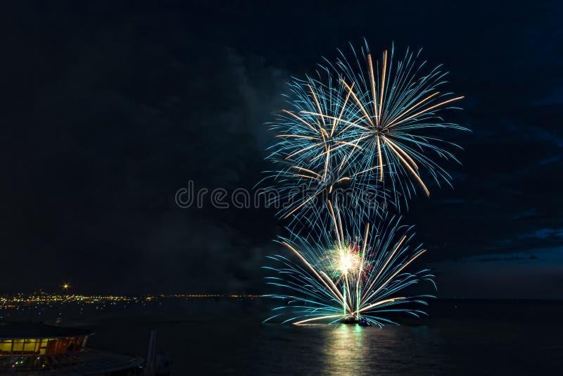 Vuurwerkfestival 2017 royalty-vrije stock afbeeldingen