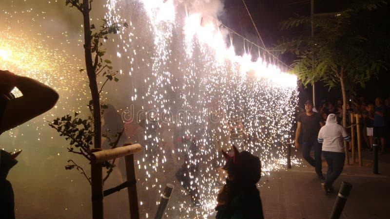 Vuurwerkfestival stock fotografie
