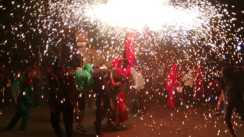 Vuurwerkfestival stock afbeelding