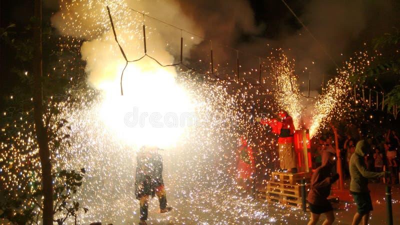 Vuurwerkfestival royalty-vrije stock afbeelding