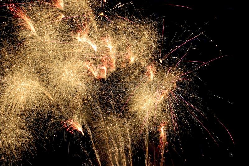 Vuurwerkviering stock foto