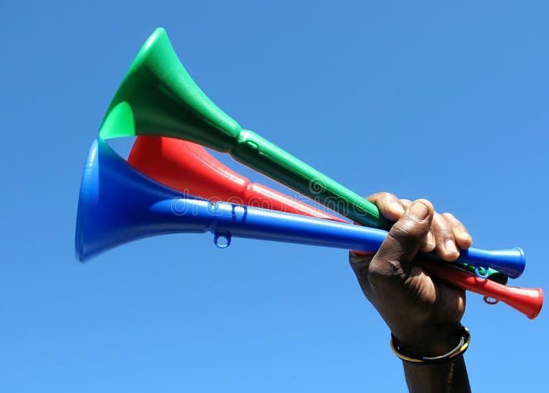 vuvuzelas δεσμών στοκ εικόνα