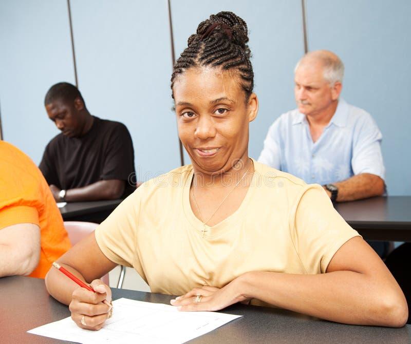 vuxen deltagare för edutbildningsspecial royaltyfri bild