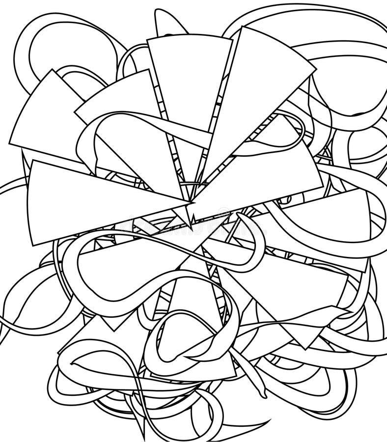 Vuxen färgläggningbok vektor illustrationer