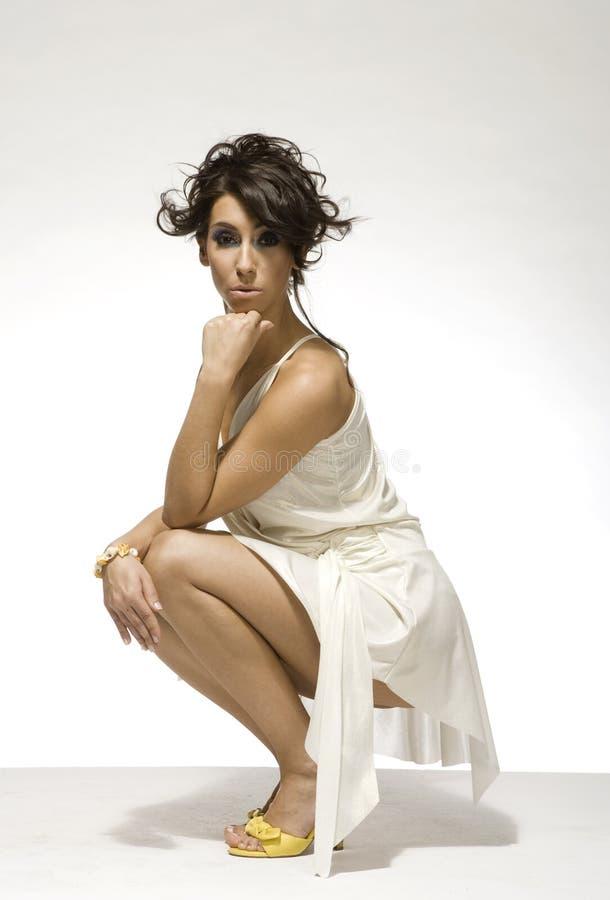vuxen härlig sensualitykvinna royaltyfri fotografi