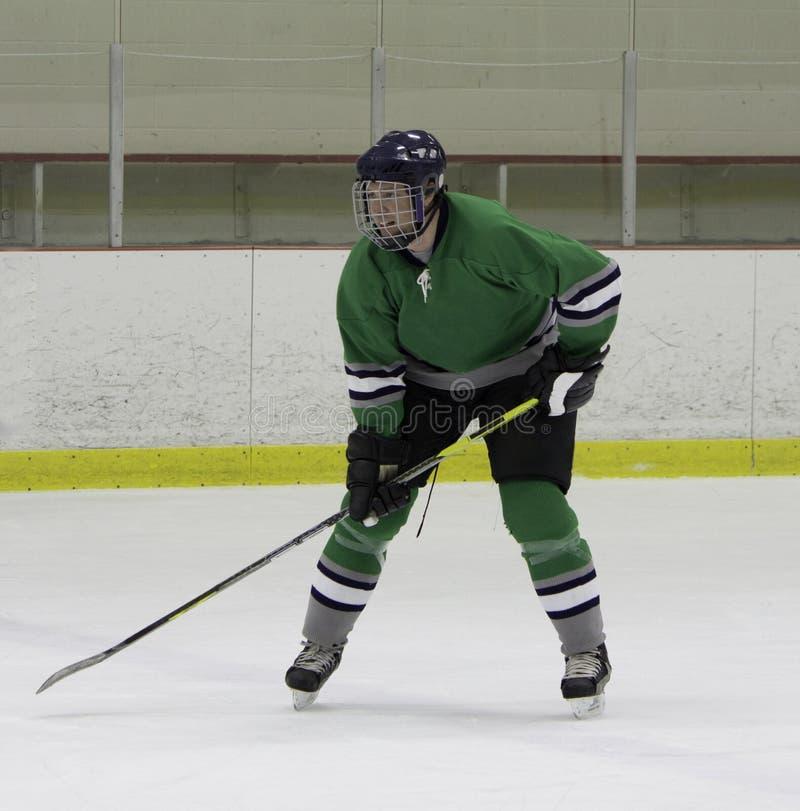 Vuxen ishockeyspelare royaltyfri fotografi