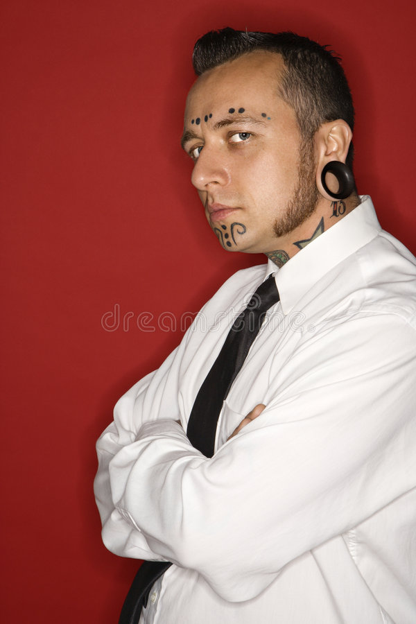 vuxet seende male slipstittareslitage royaltyfria foton