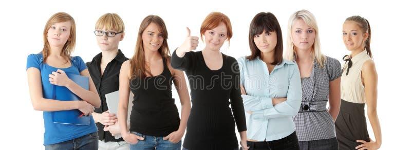 vuxna gruppwomans royaltyfri foto
