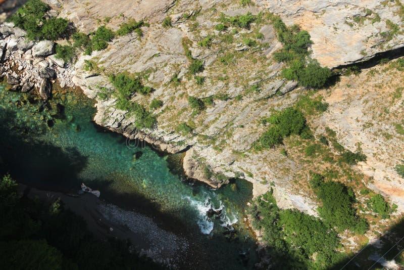 Vview del río de Tara, Montenegro fotos de archivo