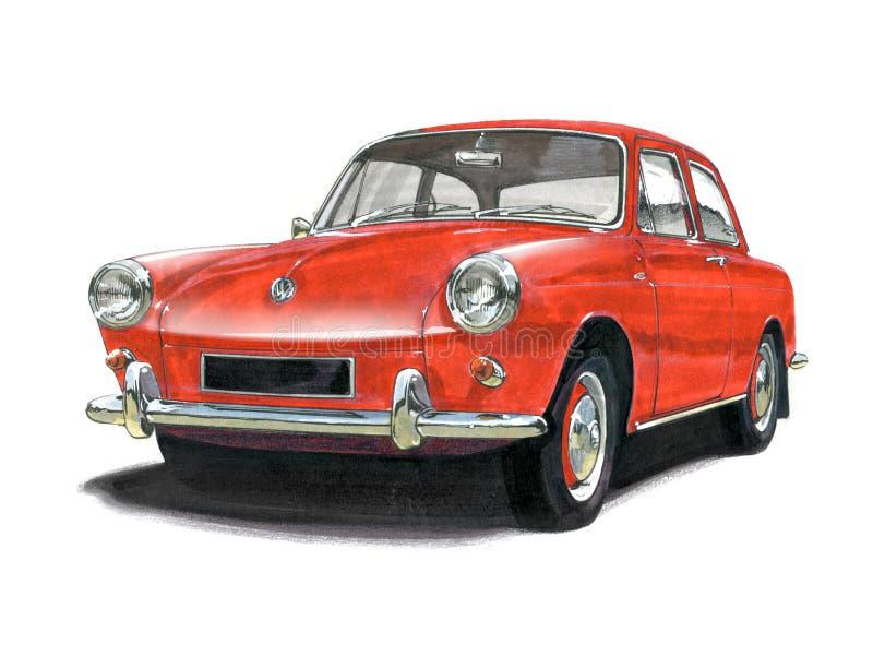 VW ścigi typ 3 royalty ilustracja