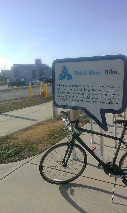 VW засаживает велосипед Chattanooga стоковое изображение