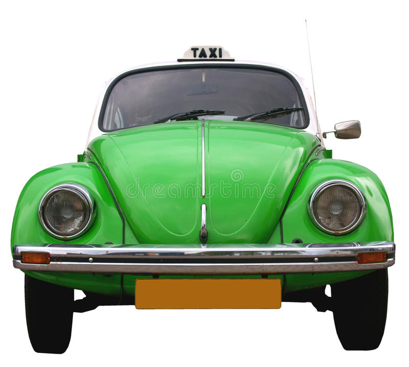 vw таксомотора frontside жука стоковые фото