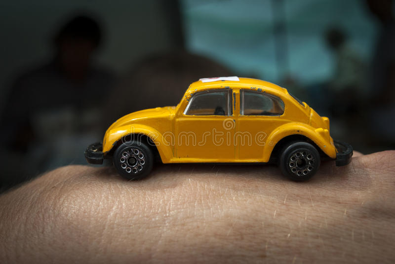 VW Beatle toy car royalty free stock image