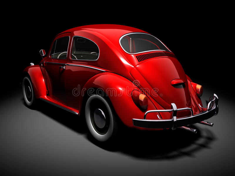 VW Beetle 4 vector illustration
