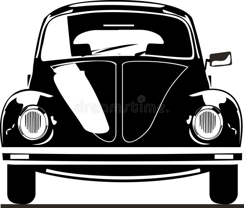 VW beetle front view vector illustration