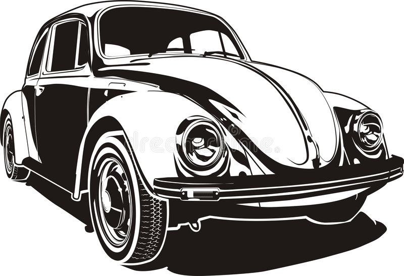 VW bug. With Clipping Path (at max format). Available CDR-9 format