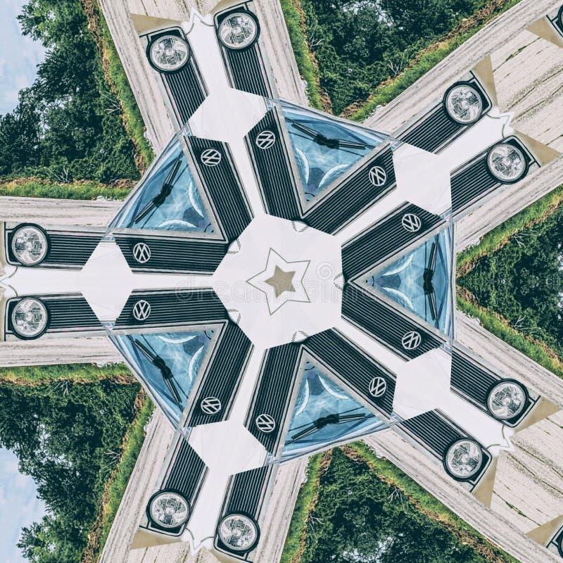 VW-Cabriolet vervormde Grafisch Art. royalty-vrije illustratie
