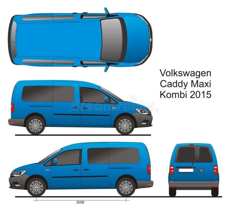 VW Caddy μεγάλου μεγέθους Combi 2015 ελεύθερη απεικόνιση δικαιώματος