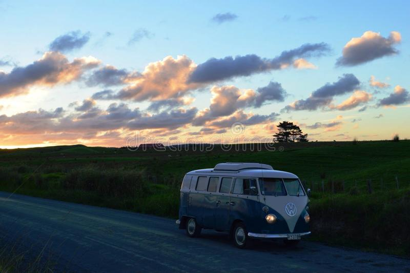 Vw camper royalty free stock photos