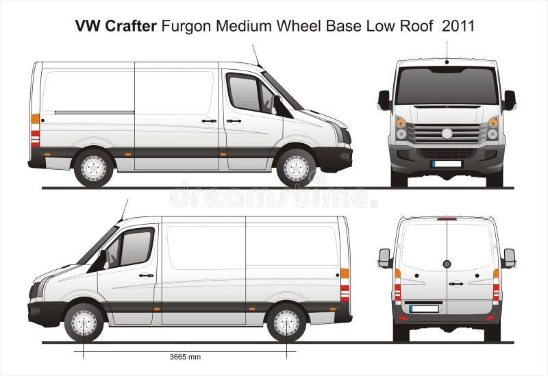 Vw Crafter Mwb Low Roof Furgon Van 2011 Blueprint