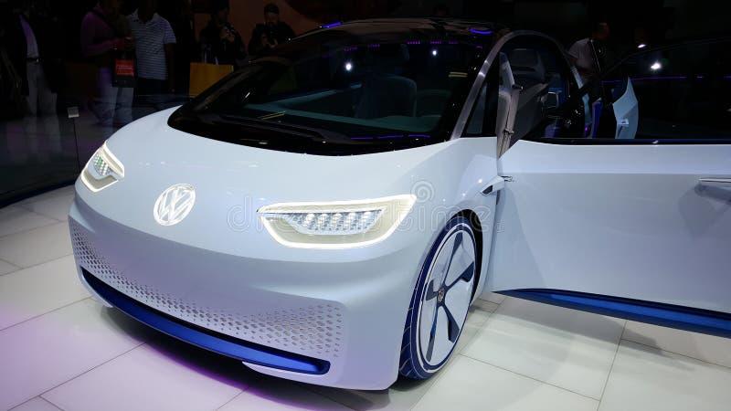 VW future car in Paris stock image