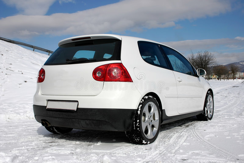 VW golf gti rear royalty free stock images