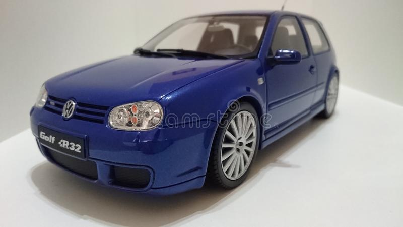 Vw Golf Mk IV R32 hot hatch car. German sports hatchback Golf Mk IV with familly car design but a powerful 3.2 litre engine royalty free stock photography