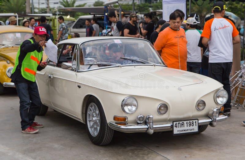 VW Karmann Ghia Type 34 join VW club meeting royalty free stock photography