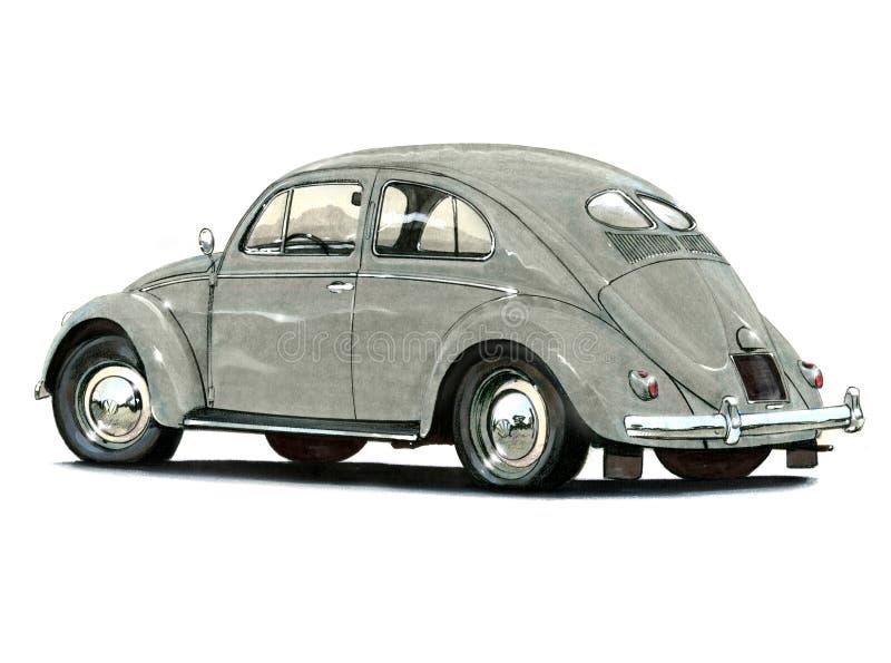 VW-Kever Gespleten Ovaal royalty-vrije illustratie