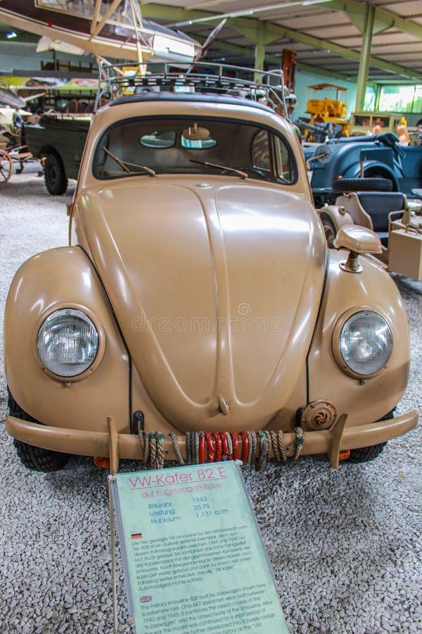 VW-Kever van Tweede Oorlog in SinsHeim-Museum royalty-vrije stock afbeeldingen