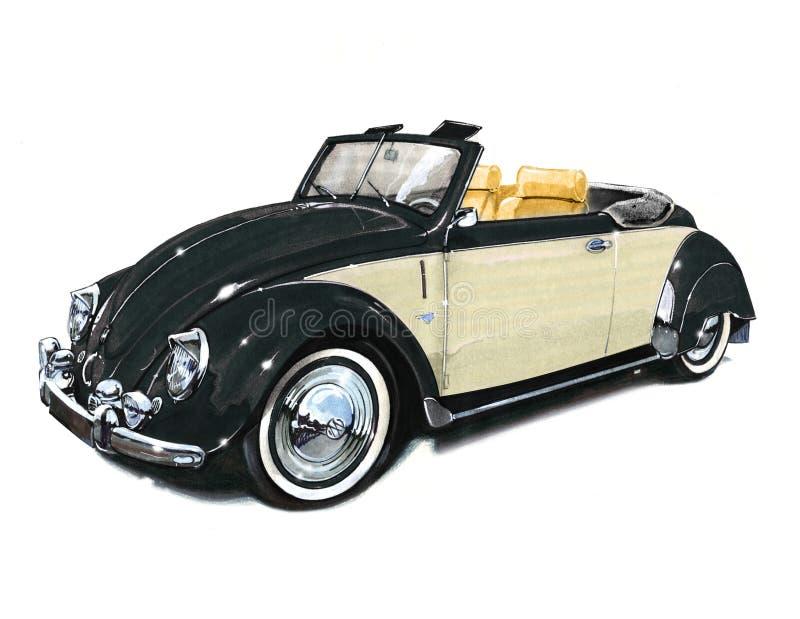 VW-Kever van Tweede Oorlog in SinsHeim-Museum royalty-vrije illustratie