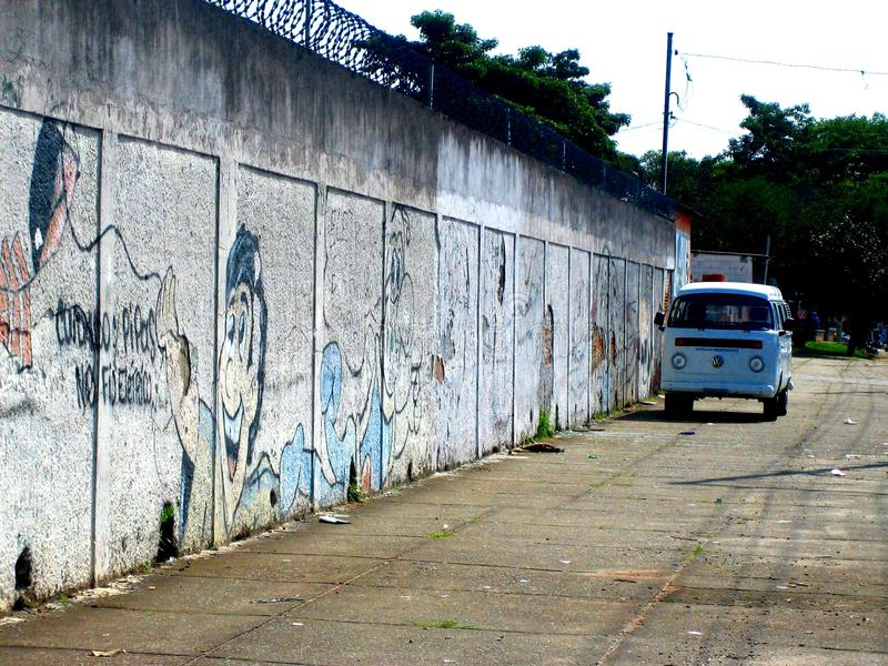 VW-microbus Volkswagen in Brazilië Sao Paulo royalty-vrije stock afbeelding