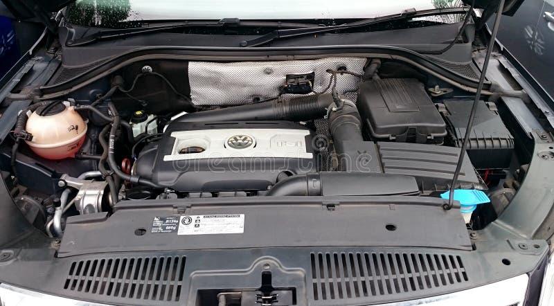VW-motor van een auto royalty-vrije stock foto's