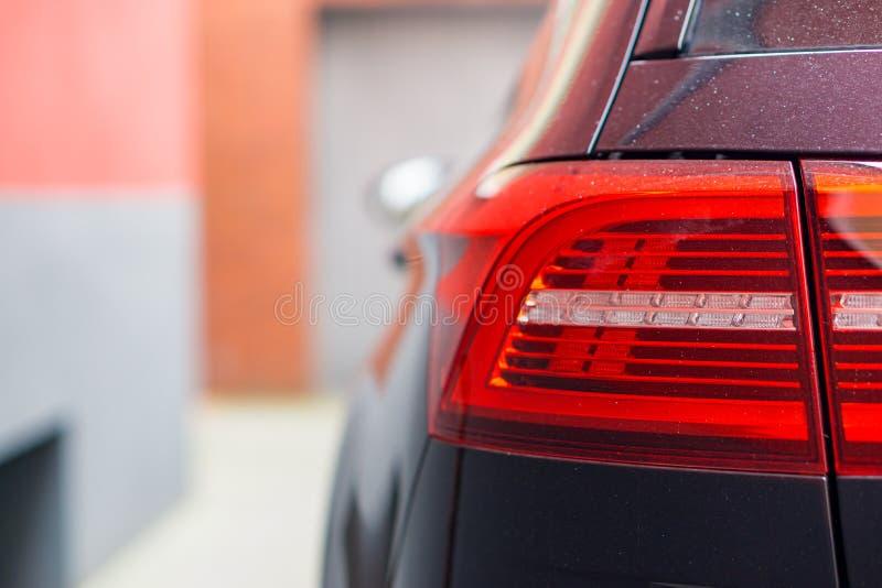VW Passat-Auto, Rücklicht, rot lizenzfreie stockfotos