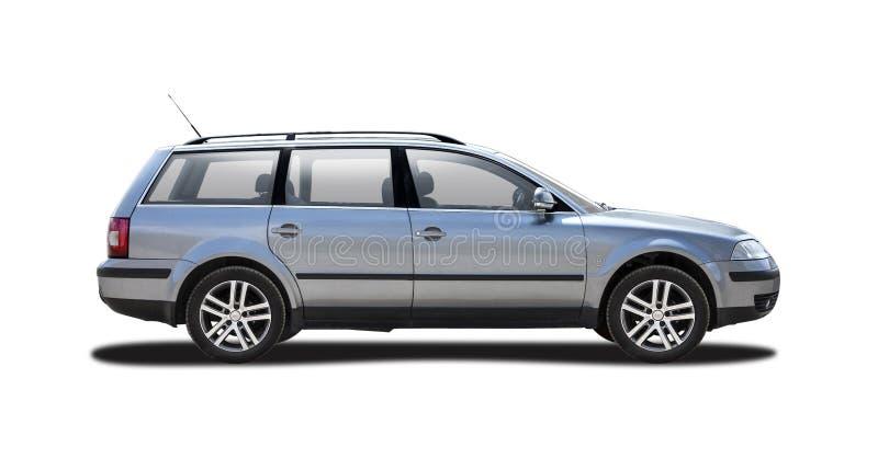 VW Passat station vagon isolerad på vitt royaltyfri bild