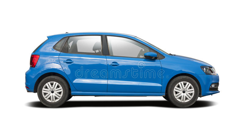 VW Polo aisló en blanco foto de archivo
