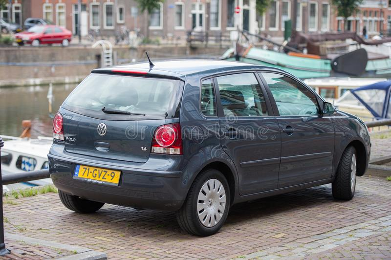 VW Polo car on the street royalty free stock images