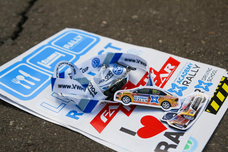 VW Polo Cup stickers stock images