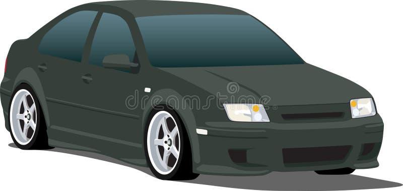 VW preta Jetta ilustração do vetor