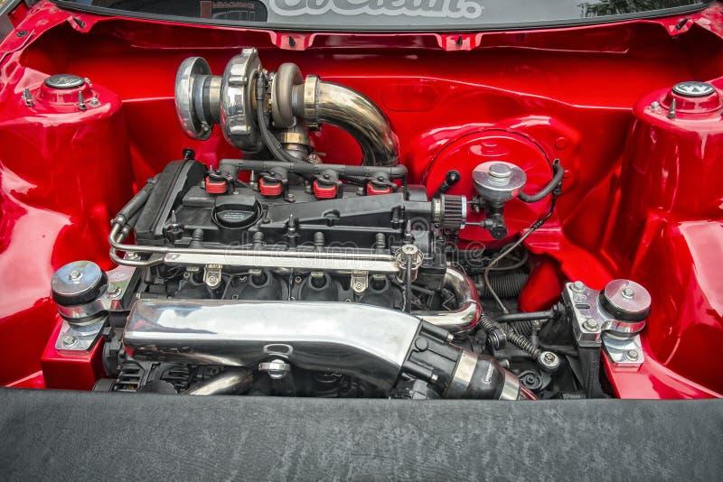 VW sobre o motor diesel limpo imagem de stock