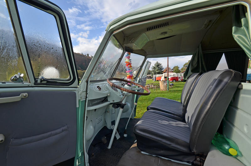 Vw Transporter Classic Camping Van Royalty Free Stock Photos