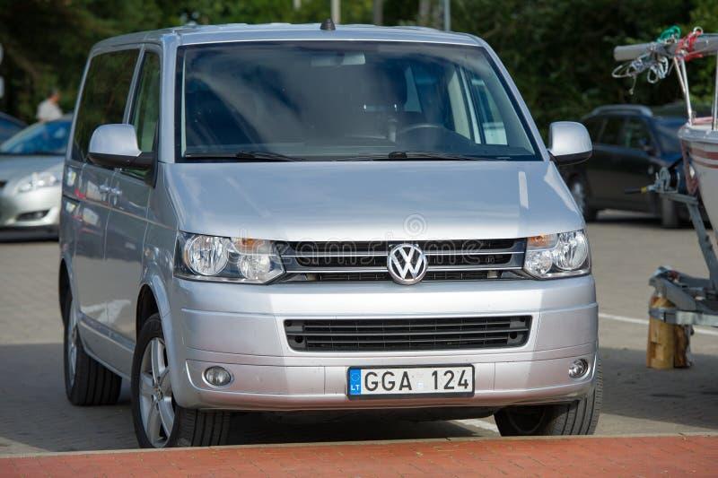 VW-Vervoerderst5 bestelwagen royalty-vrije stock foto's